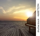 Piano Outside Shot At Sea Side...