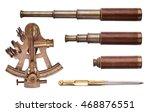 sextant  telescope  divider... | Shutterstock . vector #468876551