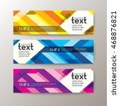 set of modern design web... | Shutterstock .eps vector #468876821