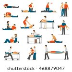 first aid emergency treatment... | Shutterstock .eps vector #468879047