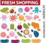 fresh shopping stickers  ... | Shutterstock .eps vector #46888135