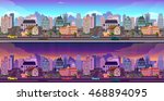 day and night city panorama.... | Shutterstock .eps vector #468894095
