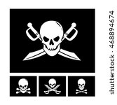 collection of four black pirate ...   Shutterstock .eps vector #468894674