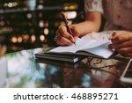 home office desk background... | Shutterstock . vector #468895271