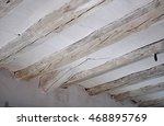 wooden beams and curtain | Shutterstock . vector #468895769