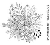 flower doodle vector  coloring... | Shutterstock .eps vector #468896771