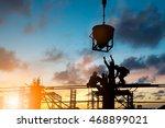 silhouette people heavy... | Shutterstock . vector #468899021