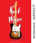 rock music poster design... | Shutterstock .eps vector #468905177