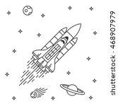 space shuttle flight vector... | Shutterstock .eps vector #468907979