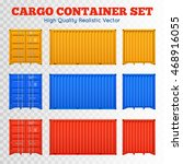 colorful cargo containers views ...
