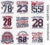 set of creative t shirt graphic ... | Shutterstock .eps vector #468919031