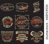 set of creative t shirt graphic ...   Shutterstock .eps vector #468919034