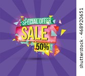 sale discounts and special... | Shutterstock .eps vector #468920651