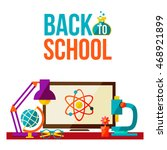 back to school poster with... | Shutterstock . vector #468921899