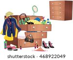 chest of drawers. | Shutterstock .eps vector #468922049
