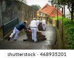 toboggan riders moving... | Shutterstock . vector #468935201