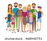big happy family. several... | Shutterstock .eps vector #468940751