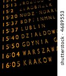 trains departures board at the... | Shutterstock . vector #4689553