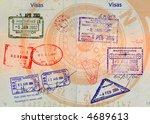 hong kong china malaysia... | Shutterstock . vector #4689613