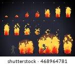 burn effect animation | Shutterstock .eps vector #468964781