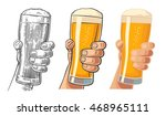 male hand holding a beer glass. ... | Shutterstock .eps vector #468965111