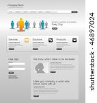 business template web site. | Shutterstock .eps vector #46897024