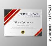 certificate template awards... | Shutterstock .eps vector #468974255