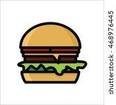 chesseburger vector icon | Shutterstock .eps vector #468976445