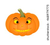 halloween pumpkin isolated on... | Shutterstock .eps vector #468979775