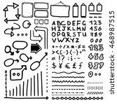 huge set of black hand drawn... | Shutterstock .eps vector #468987515