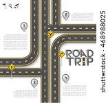 design road   street template... | Shutterstock .eps vector #468988025