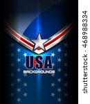 usa flag color backgrounds ... | Shutterstock .eps vector #468988334