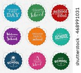 back to school and looking cool ... | Shutterstock .eps vector #468991031