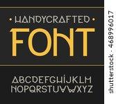 vector label font  modern style.... | Shutterstock .eps vector #468996017