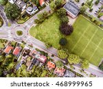 Aerial View Of Dutch Town ...