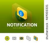 notification color icon  vector ...