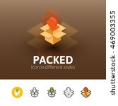 packed color icon  vector...