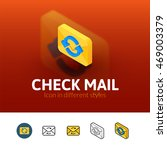 check mail color icon  vector...