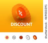 discount color icon  vector...