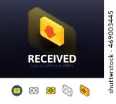 recived color icon  vector...