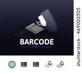 barcode color icon  vector...