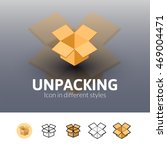 unpacking color icon  vector...