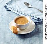 cup of cafe crema with a... | Shutterstock . vector #469006844
