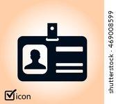 identification card icon. flat... | Shutterstock .eps vector #469008599