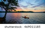 Female Kayaker On Lake Keowee...