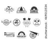 dark carpentry wood badges logos | Shutterstock .eps vector #469013534