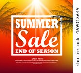 vector abstract summer sale... | Shutterstock .eps vector #469018649
