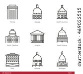 us state capitols  part 4   ... | Shutterstock .eps vector #469023515