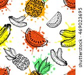 Seamless Vector Pattern. Hand...