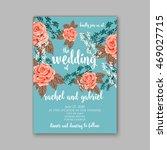 beautiful wedding floral vector ... | Shutterstock .eps vector #469027715